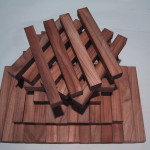 Figured Teak wood pen blanks