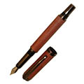 Aristocrat Fountain Pen - Gunmetal/Gold Nib/piston converter