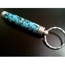 Secret Compartment Key Chain - Satin Chrome